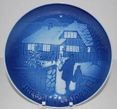 "Bing & Grondahl 1973 JULE AFTEN Christmas Plate ""COUNTRY CHRISTMAS"" Lmtd Ed MIB"