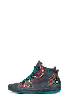 Desigual women's Lili high-top sneakers.