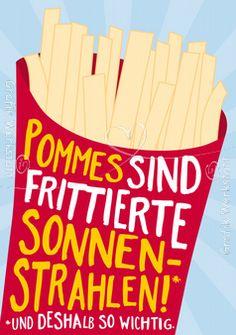 Pommes - Postkarte - Grafik Werkstatt Bielefeld