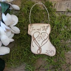 Christmas Ornament Wood Burned Personalized by WildFireFlies,