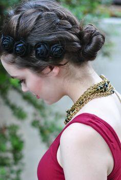 Donavon Bentley Rose Headband - Braid Hairstyle