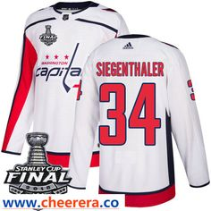 f09d0ba3b Washington Capitals Tyler Graovac White Stitched Adidas NHL Away Men s  Jersey with 2018 Stanley Cup Final Patch.