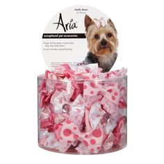 Aria Molly Bows for Dogs, 45-Piece Canisters >> You can find more details here : Accessories for dog