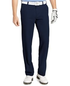 Izod Golf Pants, Slim-Fit Flat Front Pants | macys.com