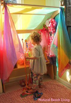 Imaginative play, playsilks, Waldorf,kids activities,kids spaces, Spring,Creative Play,Sensory play,beautiful toys,inspirational, www.naturalbeachliving.com