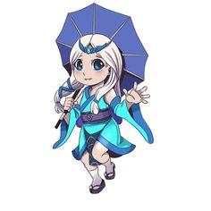Japanese Demon Mask, Miya Mobile Legends, Mobile Logo, Game Logo Design, Mobile Legend Wallpaper, Hanabi, Games Images, League Of Legends, Chibi