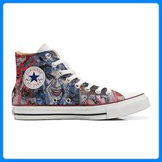 02ab4f89eec3f6 Converse All Star personalisierte Schuhe (Handwerk Produkt) Occhi Converse  - TG46 - Sneakers für