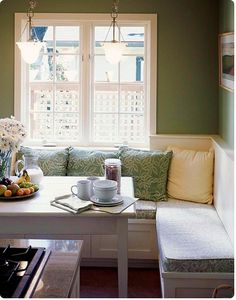 I still play with the idea of a corner banquette.