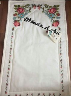 Floral Tie, Muslim, Cross Stitch, Embroidery, Kids, Rugs, Floral Lace, Crossstitch, Needlework