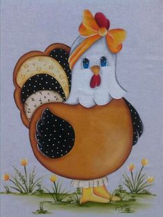 Farm Crafts, Diy And Crafts, Arts And Crafts, Chicken Crafts, Chicken Art, Quilt Block Patterns, Applique Patterns, Tole Painting, Fabric Painting