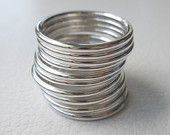 Sterling Silver Stacking Rings, Round, Band, Jewelry