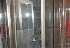 The gorgeous shower in Brian's loft..