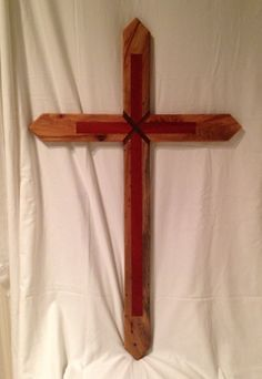 Pecan Rosewood Cross 42X26 by ArtistryGrace on Etsy, $750.00