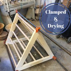 DIY Pikler Triangle - Clamped & Drying