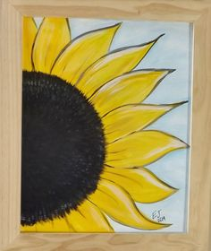 Getting Ready for Summer: New Sunflower Painting Created Today Kid Experiments, Paint And Sip, Painted Pumpkins, Easy Paintings, Fall Pumpkins, Diy Art, Painting & Drawing, Fall Decor, Activities For Kids