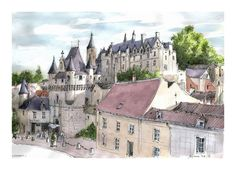 Loches - France, by Guy Moll.
