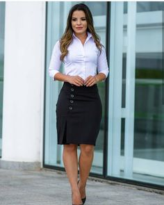 (notitle) - outfits in 2020 Office Outfits, Casual Outfits, Cute Outfits, Modelos Fashion, Professional Outfits, Outfit Combinations, How To Look Classy, Work Attire, Work Fashion