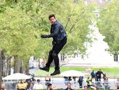 Tom Cruise Paris set of his latest Mission: Impossible movie