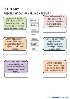 Domácí zvířata online worksheet for 1. You can do the exercises online or download the worksheet as pdf. Forgot My Password, School Subjects, Google Classroom, Web Browser, You Can Do, Worksheets, Language, Teacher, Student