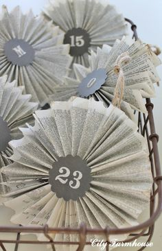 Book Page Ornaments Tutorial- Recycled Project #5 and Housewalk 2012 Details