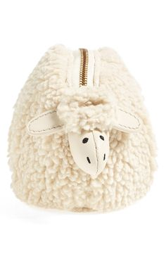 Tory Burch has a little lamb with fleece as white as snow | this 'Larry the Lamb' coin pouch is too cute!