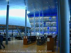 Amsterdam Delft University Library Interior Stacks