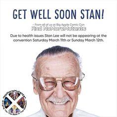 I DONT REPOST BUT THIS AN IMPORTANT ANNOUNCEMENT!!! Big Apple Comic Con has just been informed that due to health issues Stan Lee will NOTbe appearing at the convention Saturday March 11th or Sunday March 12th.   Stan keeps to an amazing schedule and it seems to have taken its toll. We are terribly sorry for any inconvenience but the show must go on. We are going to have a tremendous weekend loaded with great guests exhibitors and events. For those wanting to purchase items autographed by…