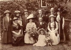 An Edwardian wedding in Rugby. This cabinet photograph was taken by George Redding of Rugby and he has captured some good images of the guests. The father of the bride who I imagine to be the man in the hat looks very satisfied by the event. The seated lady to the brides right may be his wife and she adopts the older style of presenting a profile and not feeling obliged to look into the camera.