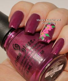 Easy Nice Caboose floral nail art