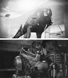 <3 I never romanced Garrus because he felt too much like a close friend, but it was so hard to say goodbye to him at the end of ME3.