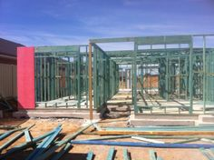 Trusses onsite and ready for erecting.