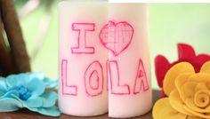 Mother's Day Gift Idea #2: Personalized Candle - I Can Teach My Child!