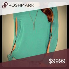 Coming Soon?Carmen?Cut-out Sleeve Blouse Like this listing to be notified of arrival in February  Part of The Blissful Collection Sky Blue in color More details to come upon arrival Tops Blouses