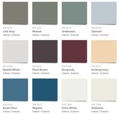Decorating With Blue, Sherwin Williams Paint Palette: Pottery Barn Seasonal  Colors For Fall