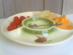 Vintage Lane Co Chip & Dip Plate / Atomic Serving by Yesterdis