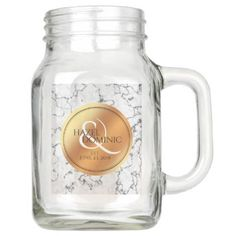 Start designing your own Elegant Mason jar today with Zazzle! Make a statement at your next event with these unique favors made just for you! Mason Jar Gifts, Mason Jars, Wedding Keepsakes, Wedding Gifts, Copper Wedding, Elegant Wedding, Marble, Just For You, Diy Accessories