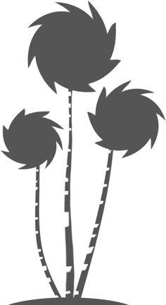 Get Creative with The Lorax: The Truffula Tree-Shirt! Dr Seuss Lorax, Dr Seuss Week, Dr Suess, Silhouette Clip Art, Silhouette Projects, Silhouette Files, Truffala Trees, Der Lorax, Lorax Trees