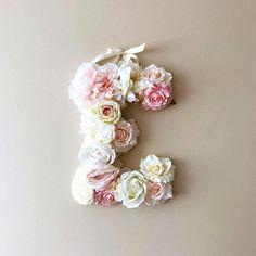 Flower Letters Large Floral Letters Vintage wedding decor