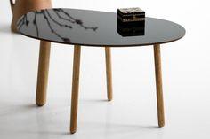 Black glossy surface on a Habitek Morris coffee table model 4