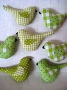 green fabric birds