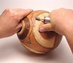Dremel used in gourd art.