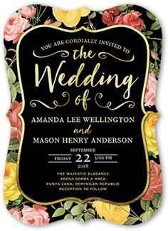 Antique Flowers 5x7 Wedding Invitation by Poppy Studio | Shutterfly -- perfect for a garden wedding
