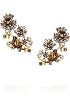 Erickson Beamon Night Shade gold-plated Swarovski crystal clip earrings NET-A-PORTER.COM