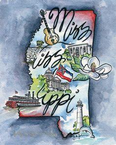 """""""Happy Birthday Mississippi"""" Dec. 10, 1817"""