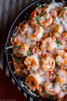 Cajun Shrimp and Quinoa Casserole tastes like comfort food without so many calories! Fish Recipes, Seafood Recipes, Dinner Recipes, Cooking Recipes, Healthy Recipes, Chard Recipes, Skillet Recipes, Pasta Recipes, Steak Recipes
