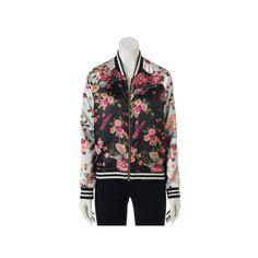 Juniors' Love, Fire Floral Bomber Jacket, Teens, Size: Medium, Ovrfl Oth