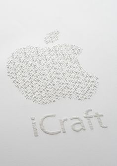 monogrammed apple logo
