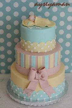 Baby Shower Cake Wanna do this for my brother and his girl or their daughter on the way :) by lea