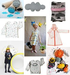Children's Trend: Chasing Rainbows    Post by Claire Carey. Images via: Wolkenstempel at Dewanda, ColetteBream, Donna Wilson, sweet william, Corby Tindersticks, Shak-Shuka, Stella McCartney, my lille limón, Cauliflower Kids  Children love playing in the rain, splashing around in puddles and chasing rainbows, it's playful and fun and this trend captures that. Simple shapes, graphic lines and dots mixed with cute illustrations.        You might also like: Children's Trend: Cute …