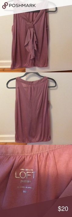 Ann Taylor top Mauve silky soft top. Great neckline. Worn once. Ann Taylor Loft Tops Blouses
